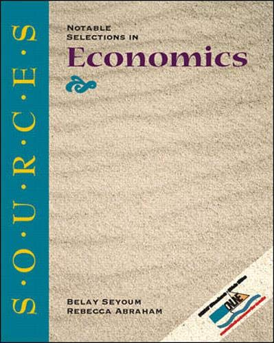 9780073035901: Sources: Notable Selections in Economics