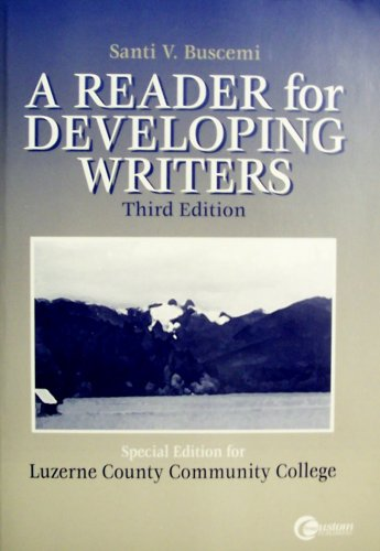 9780073038018: A Reader for Developing Writers (Special Edition for Luzerne County Community College) (Special Edition for Luzerne County Community College, 3rd)