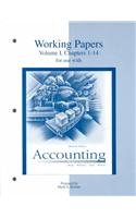 Working Papers Volume 1 Chapters 1 to 14 to accompany Accounting: The Basis for Business Decisions (0073039101) by Meigs, Robert; Williams, Jan; Haka, Sue; Bettner, Mark S; Bettner, Mark