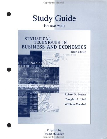 9780073039282: Study Guide for use with Statistical Techniques in Business and Economics