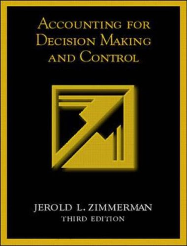 9780073039374: Accounting for Decision Making and Control