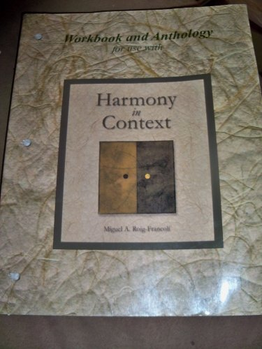 9780073039985: Workbook/Anthology for use with Harmony in Context