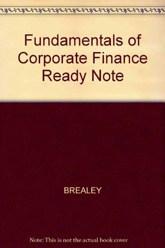 9780073040080: Ready Notes for use with Fundamentals Corporate Finance