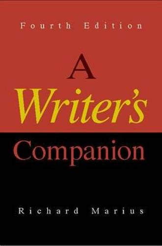 A Writer's Companion (9780073040158) by Richard Marius