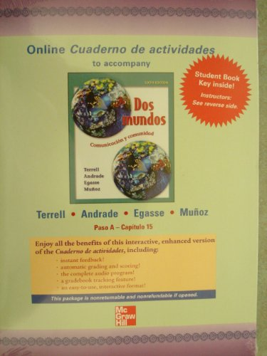 9780073040455: Quia Combined Online Workbook/Lab Manual t/a Dos Mundos