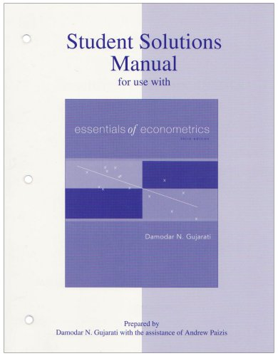9780073042091: Student Solutions Manual to accompany Essentials of Econometrics