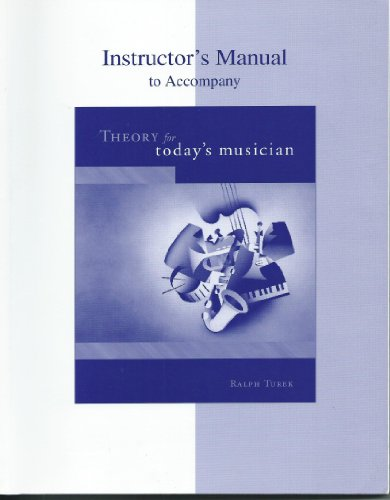 9780073043739: Instructors Manual to Accompany Theory for Today's Musician