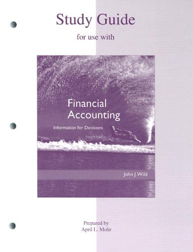 9780073043791: Study Guide to accompany Financial Accounting