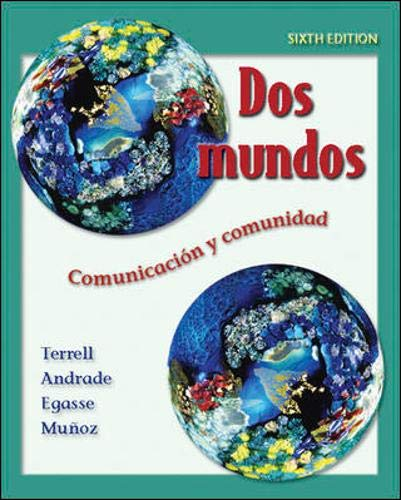 9780073046075: Dos mundos Student Edition with Online Learning Center Bind-in Passcode (McGraw-Hill World Languages) (Spanish Edition)