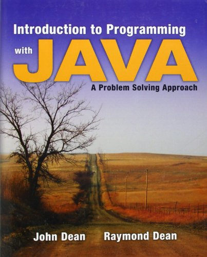9780073047027: Introduction to Programming with Java: A Problem Solving Approach