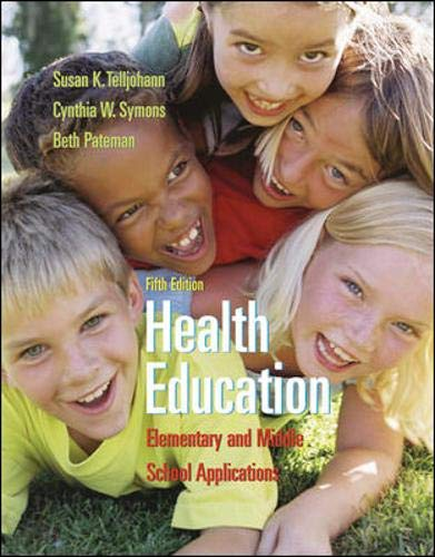 9780073047430: Health Education: Elementary and Middle School Applications