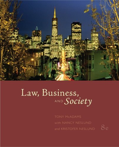 Law, Business, and Society: Tony McAdams