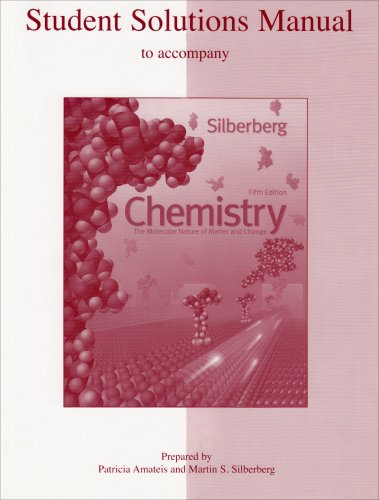 9780073048604: Student Solutions Manual to accompany Chemistry: The Molecular Nature of Matter and Change