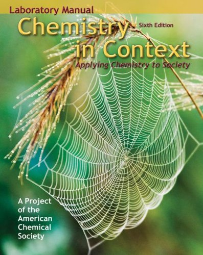 9780073048772: Chemistry in Context: Applying Chemistry to Society: Laboratory Manual