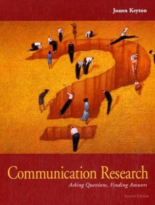 9780073049502: Communication Research: Asking Questions, Finding Answers