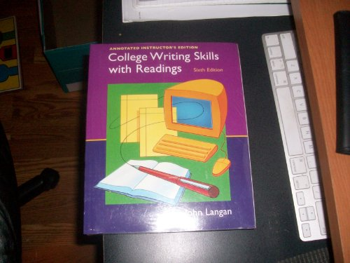 College writing skills readings by john langan abebooks fandeluxe