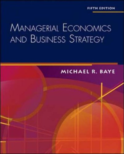 9780073050195: Managerial Economics & Business Strategy + Data Disk