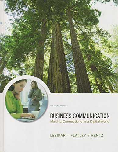 9780073050362: Business Communication: Making Connections in a Digital World