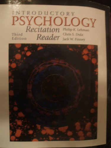 9780073050416: Introductory Psychology: Recitation Reader (for Virginia Tech University)