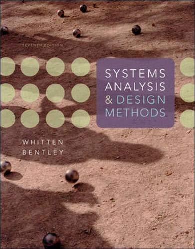9780073052335: Systems Analysis and Design Methods