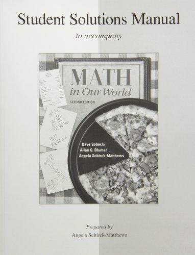 Mathematics In Our World: Sobecki, David