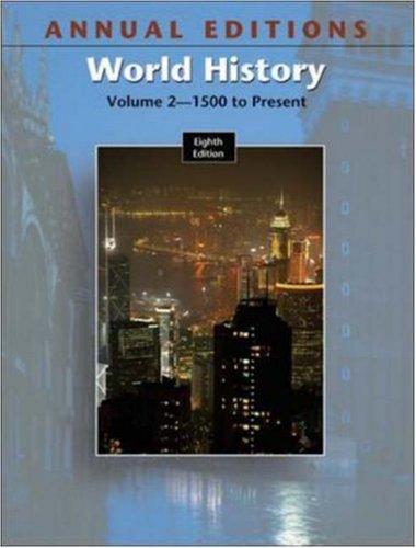 9780073053752: Annual Editions: World History, Volume 2, 8/e (Annual Editions : World History Vol 2)