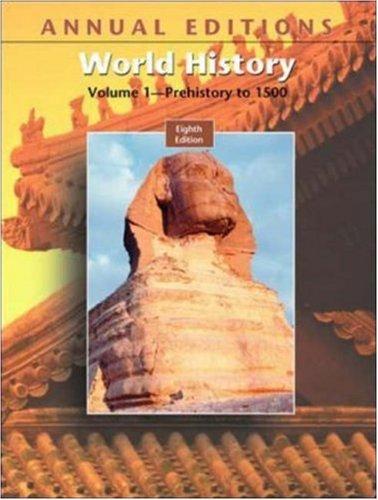 9780073053776: Annual Editions: World History, Volume I, 8/e (Annual Editions : World History Vol 1)