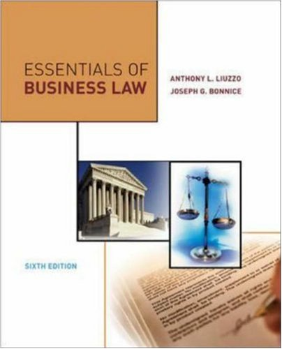 9780073054278: Essentials of Business Law
