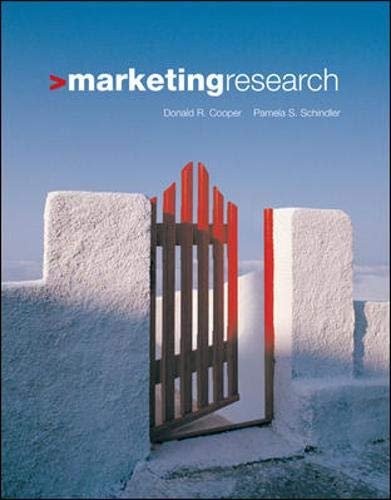 Marketing Research, by Cooper: Donald R. Cooper/