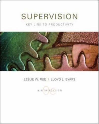 Supervision: Key Link to Productivity: Leslie W. Rue,