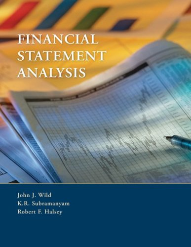 Financial Statement Analysis: Wild, John J;