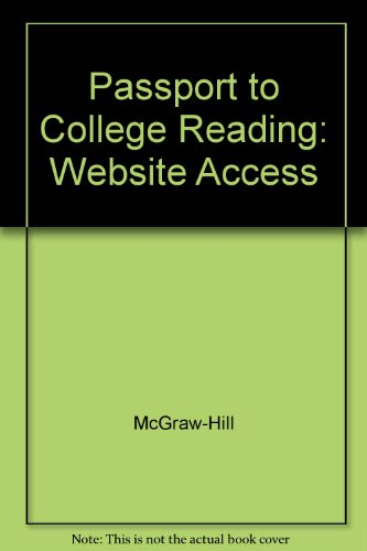 9780073100562: Passport to College Reading(Student Access Code)