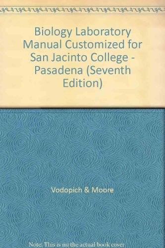 9780073100630: Biology Laboratory Manual Customized for San Jacinto College - Pasadena (Seventh Edition)