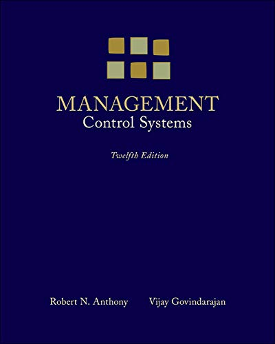 9780073100890: Management Control Systems
