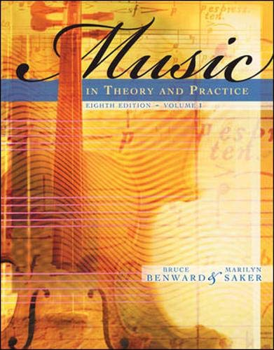 9780073101873: Music in Theory and Practice, Vol. 1 (v. 1)