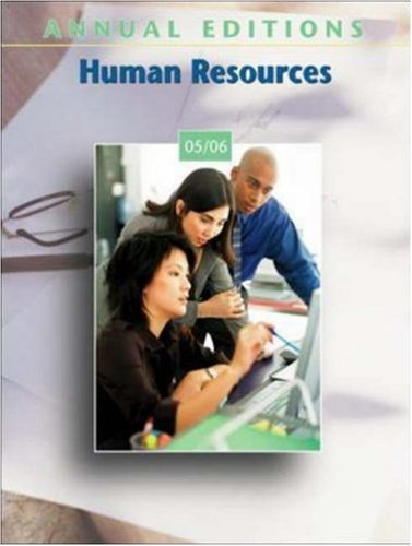 9780073102122: Annual Editions: Human Resources 05/06