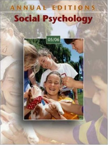 9780073102146: Annual Editions: Social Psychology 05/06