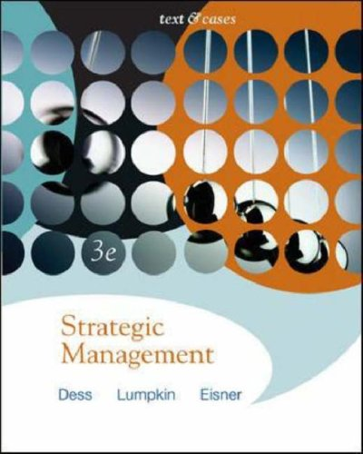 9780073102467: Strategic Management: Text And Cases