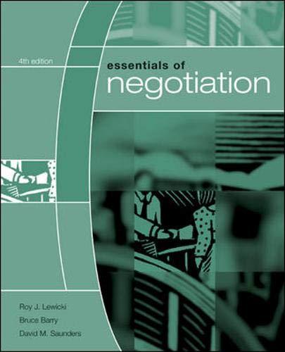 9780073102764: Essentials of Negotiation
