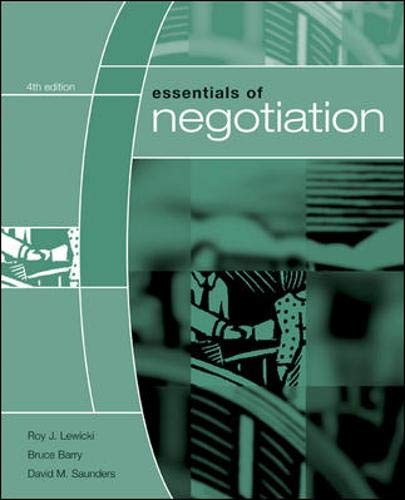 9780073102764: Essentials of Negotiation