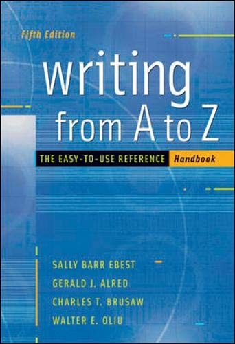 9780073103037: Writing from A to Z with Catalyst access card