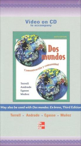 9780073103044: Video Program on CD to accompany Dos mundos