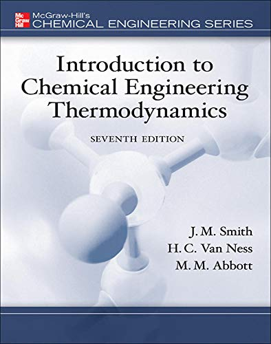 9780073104454: Introduction to chemical engineering thermodynamics