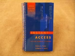 9780073104935: Instant Access: The Pocket Reference for Writers 2003 Mla / Cms