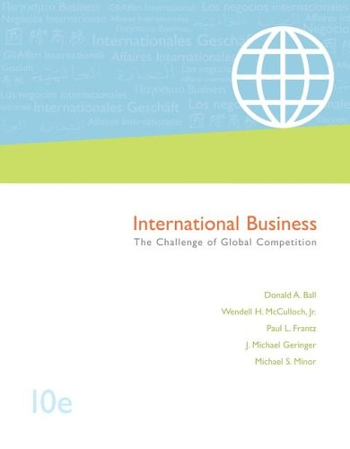 International Business: The Challenge of Global Competition,: Donald Ball, Wendell