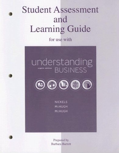 9780073106045: Student Assessment & Learning Guide to accompany Understanding Business