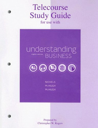 9780073106083: Telecourse Study Guide to accompany Understanding Business