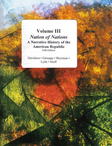9780073106274: Nation of Nations; A Narrative History of the American Republic (Volume III)