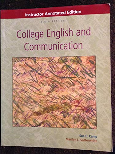 9780073106519: College English and communication (Instructor Annotated Edition/Ninth Edition)