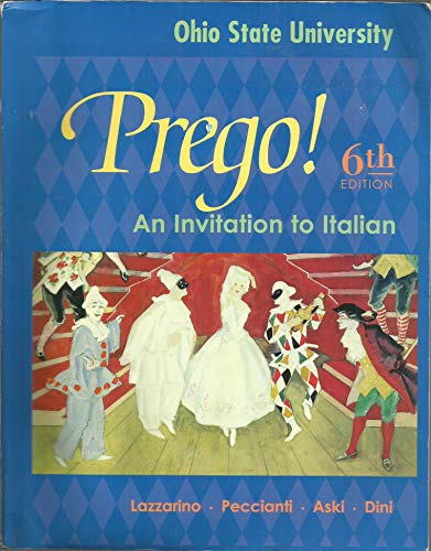 9780073106878: Prego! An Invitation to Italian ( Ohio State University)